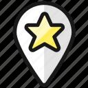 pin, star