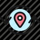 sync, location, refresh