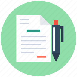 agreement, pen, property paper, rental agreement, writing icon