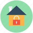 home, home security, house protection, lock sign, residential protection icon