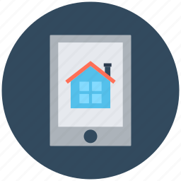 ecommerce, eshop, online property, online real estate, tablet icon