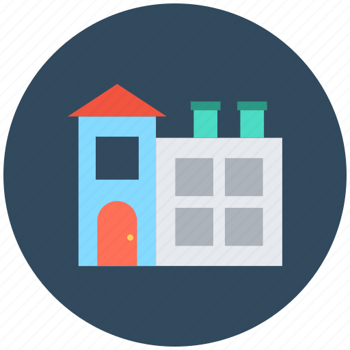 apartment, factory, industrial building, industry, mill icon