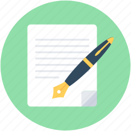 contract, document, documentation, pen, writing icon