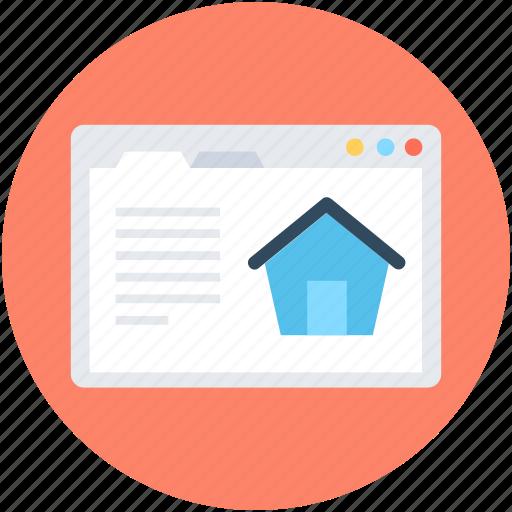 estate site, online mortgage, online property, property website, real estate icon