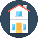 building, double story, home, house, hut icon