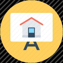 architect, house, presentation, property presentation, real estate icon