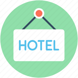 hotel, hotel info, hotel service, information, signboard icon