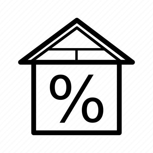 discount, home, house, interior, real estate, rent, sale icon