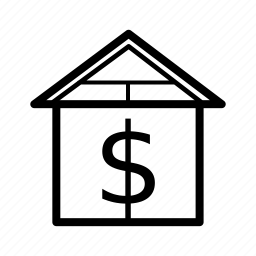 dollar, home, house, real estate, rent, sale, sold icon