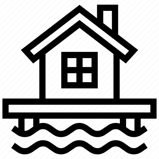flood, hazard, house, protection, safety, security, water icon