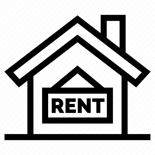 estate, for, home, property, real, rent, sign icon