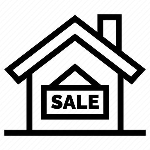 for, home, house, label, offer, property, sale icon