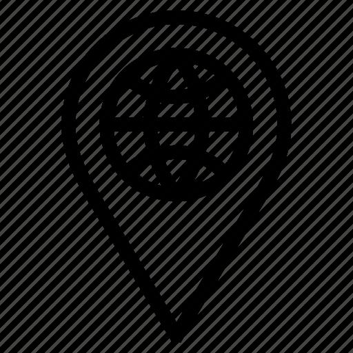 global, globe, location, marker, pin, pointer, world icon