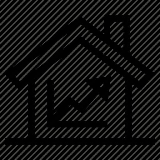 analysis, analytics, growth, infographic, property, report, statistics icon