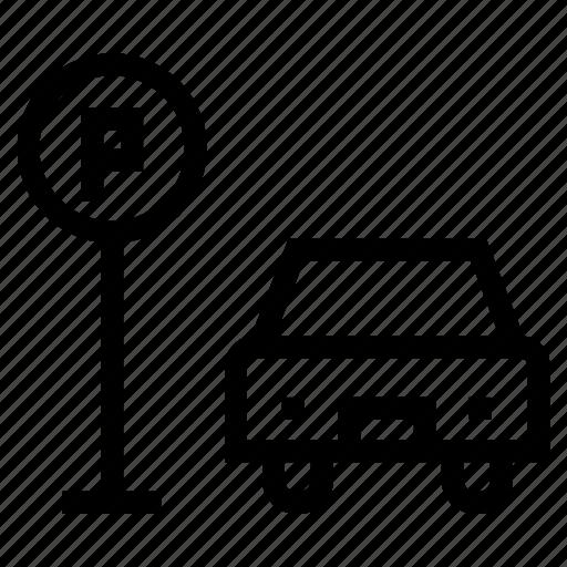 automobile, car, lot, parking, transport, travel, vehicle icon