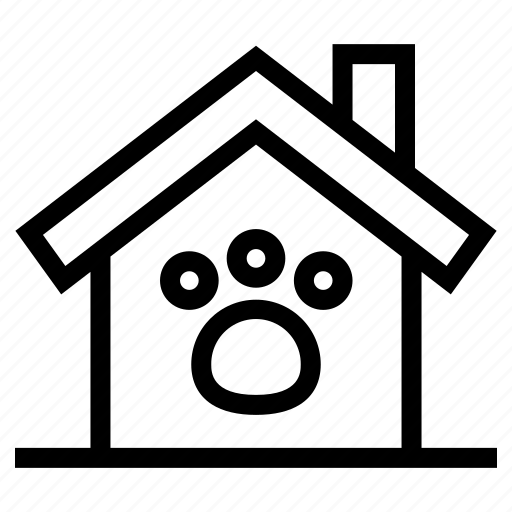 estate, friendly, home, house, pet, property, real icon