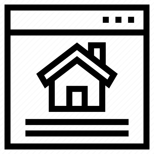 browser, estate, house, internet, property, real, website icon