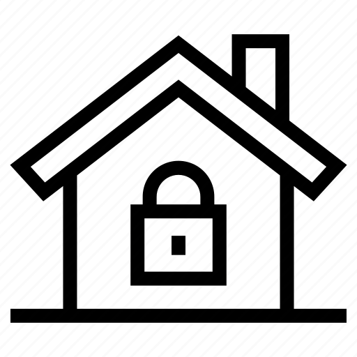 estate, home, house, property, real, secured, security icon