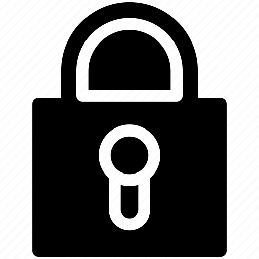 lock, locked, padlock, private, secure, security icon