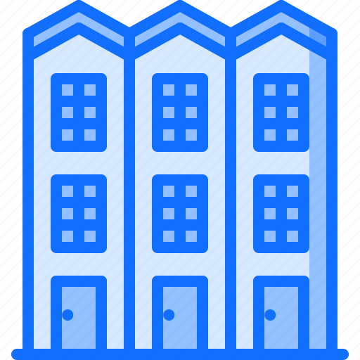 apartment, architecture, building, estate, house, real icon