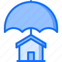 architecture, building, estate, house, insurance, real, umbrella icon