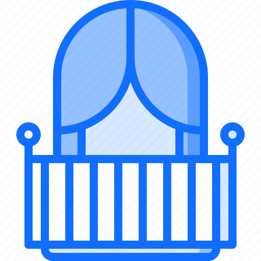 architecture, balcony, building, curtain, estate, house, real icon