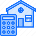 architecture, building, calculator, estate, house, real icon