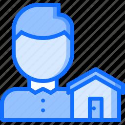 architecture, building, estate, house, real, realtor icon