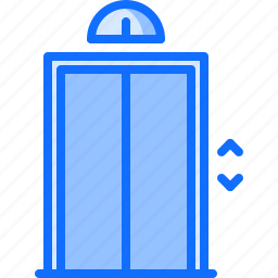 apartment, architecture, elevator, estate, house, key, real icon