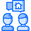 architecture, building, estate, house, real, realtor, talk icon