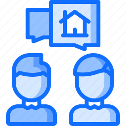 architecture, building, estate, house, real, realtor, talk icon