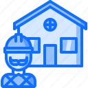 architecture, builder, building, estate, house, real icon