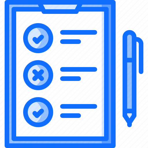 check, estate, house, list, pen, real, tablet icon