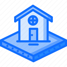 architecture, building, estate, house, land, real, stead icon