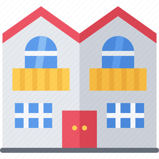 Architecture, building, duplex, estate, house, real icon - Download on Iconfinder