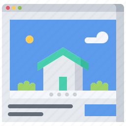 architecture, building, estate, house, real, site icon