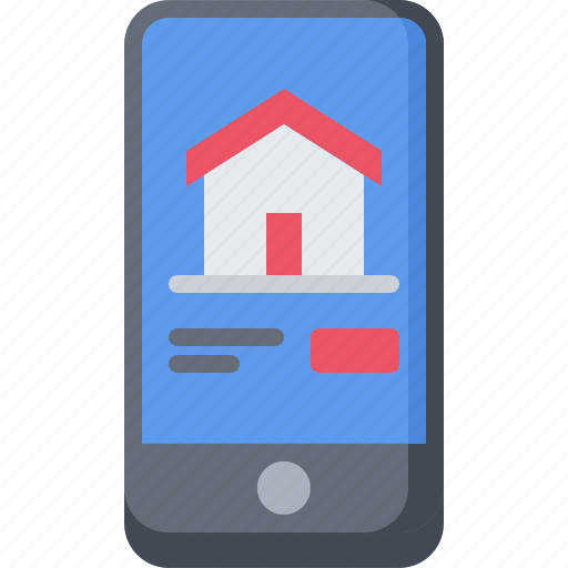 architecture, building, estate, house, phone, real, site icon