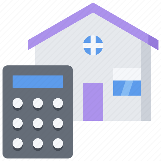 architecture, building, calculator, estate, house, real icon
