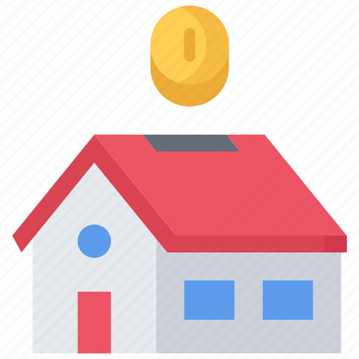 architecture, box, coin, estate, house, money, real icon