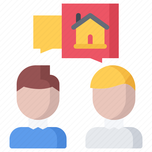 Architecture, building, estate, house, real, realtor, talk icon - Download on Iconfinder