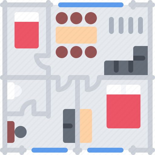Architecture, building, estate, house, layout, real icon - Download on Iconfinder