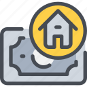 bank, banking, estate, money, payment, property icon