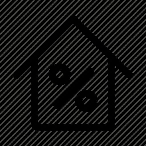 discount, estate, real icon