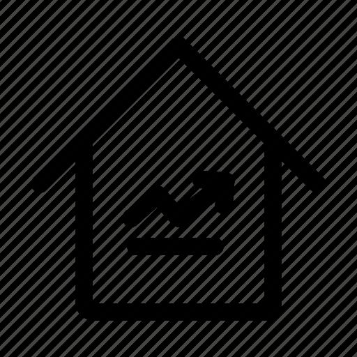 estate, real, rise icon