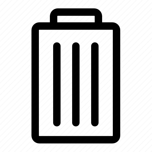 dump, trash, trash can icon