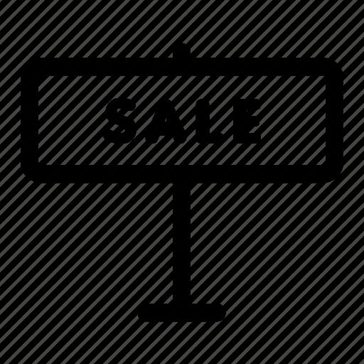estate, sale, sign icon