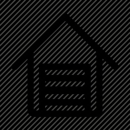 estate, garage, real icon