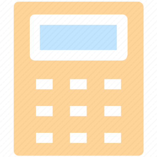 accessories, accounting, calculate, calculator, machine, math, stationery icon