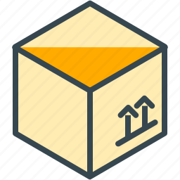 box, estate, move, package, real, shipping icon