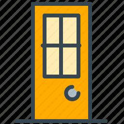close, door, enterance, estate, exit, home, real icon